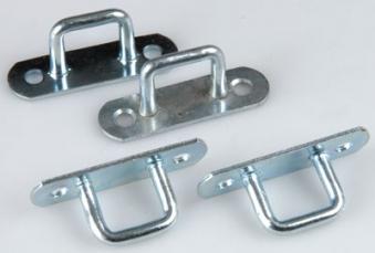 Bügelkrampen Riemenkrampen verzinkt 4 Stück / Anhänger Zubehör Bild 1