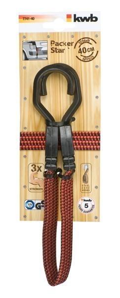Gepäckarm / Spannband flach mit Haken 40 cm Bild 1