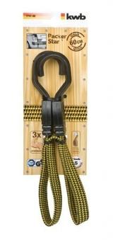 Gepäckarm / Spannband flach mit Haken 60 cm Bild 1