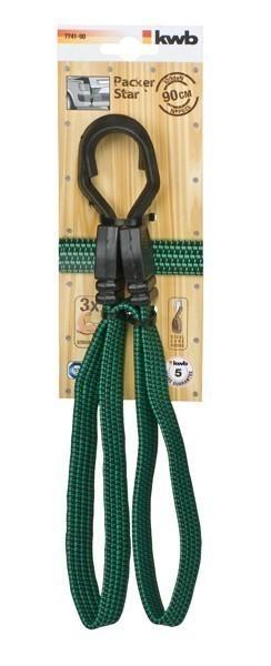 Gepäckarm / Spannband flach mit Haken 90 cm Bild 1