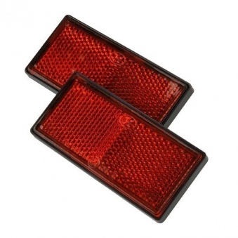Heckreflektor eckig rot 2 Stück / Anhänger Zubehör / Beleuchtung Bild 1