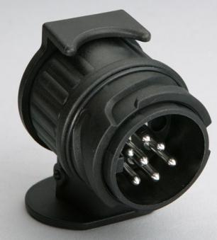 Mini Adapter / Kurz Adapter 13- auf 7-polig 12 V / Anhänger Zubehör Bild 1