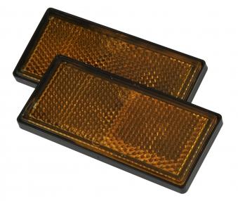 Seitenreflektor gelb eckig 2 Stück / Anhänger Zubehör / Beleuchtung Bild 1