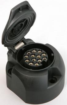 Steckdose 13-polig Kunststoff / Anhänger Zubehör / Elektrik Bild 1