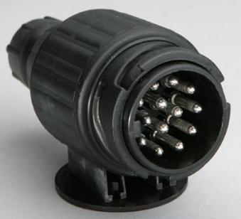 Stecker 13- polig Kunststoff / Anhänger Zubehör / Elektrik Bild 1