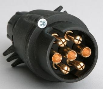 Stecker 7-polig / Anhänger Zubehör / Elektrik Bild 1