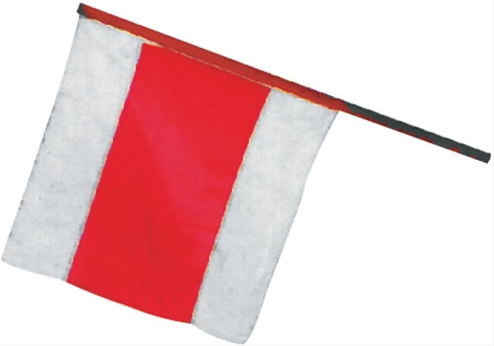 Warnflagge 50 x 50 cm mit Holzstiel 80 cm Bild 1