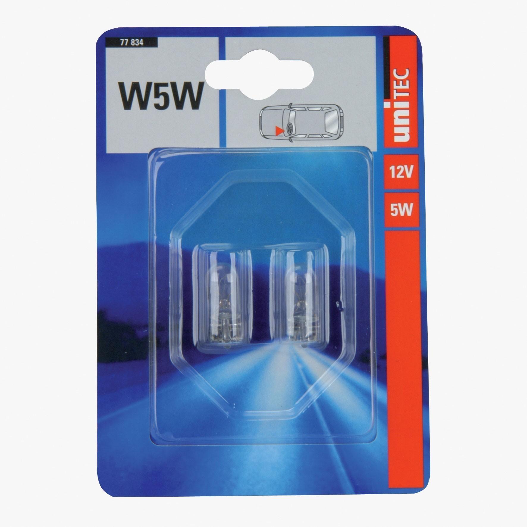 Glassockellampe Unitec W5W 12Volt 2 Stück Bild 1