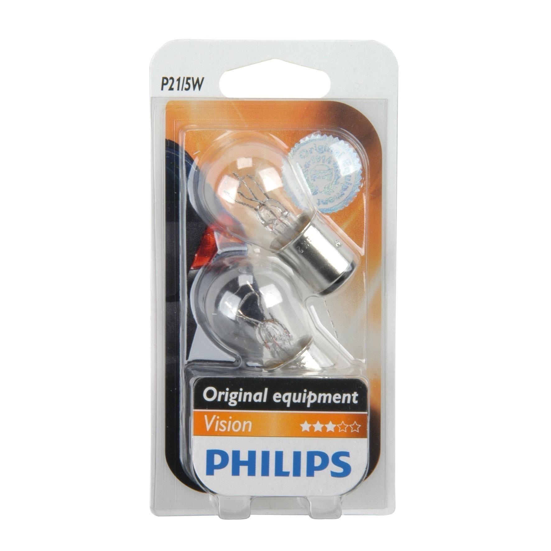 Philips Kugellampe P21 12Volt / 5Watt 2er Pack - Autobeleuchtung Bild 1