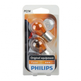 Philips Kugellampe Py21W 12 Volt /  21 Watt gelb - Autobeleuchtung Bild 1