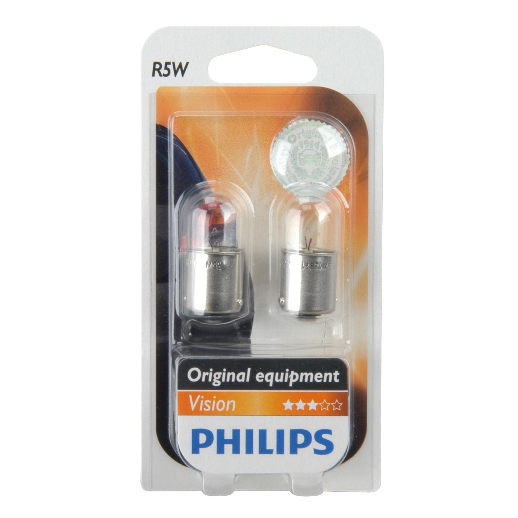 Philips Kugellampe R5W 12 Volt / 5 Watt 2er Pack - Autobeleuchtung Bild 1