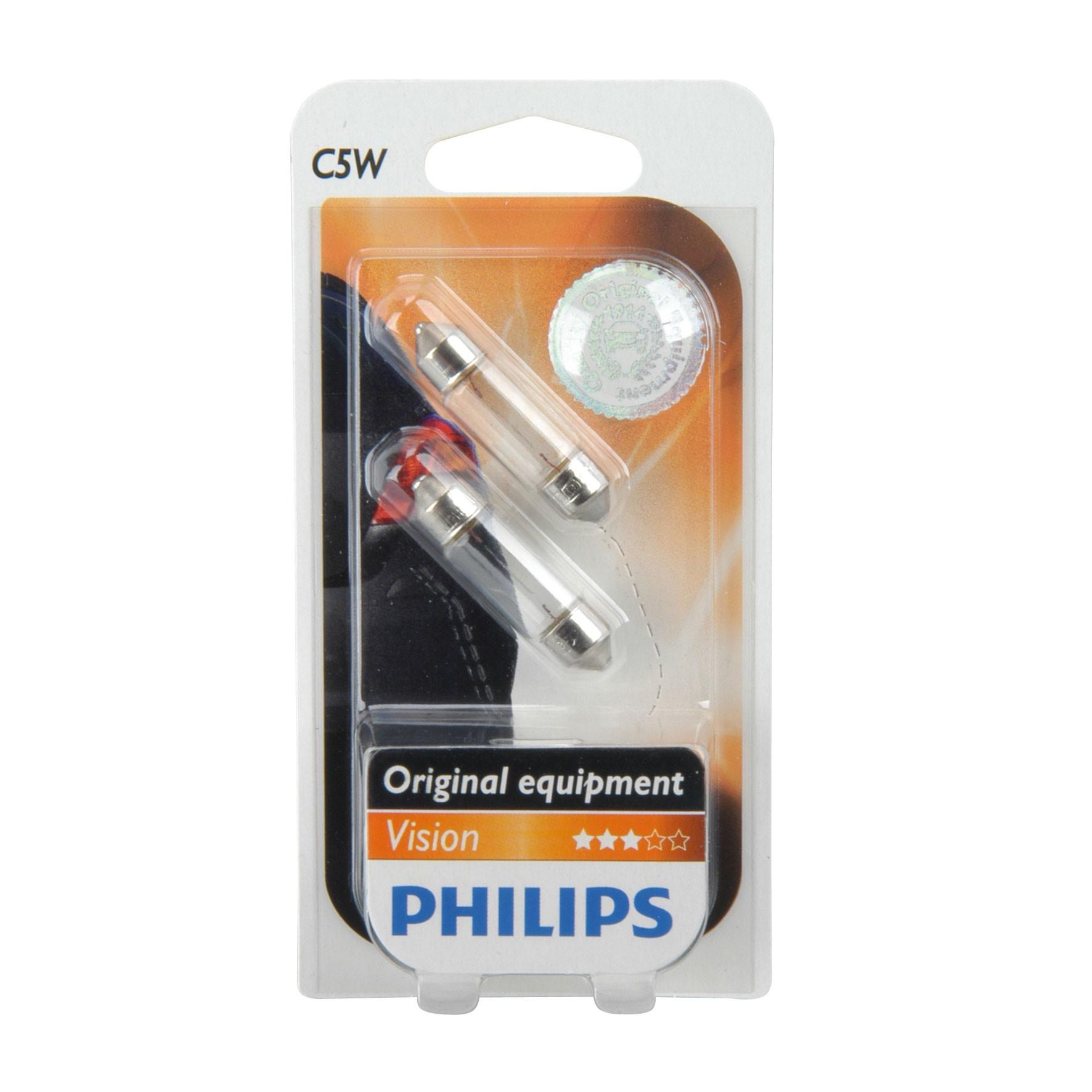 Philips Soffittenlampe C10W 12Volt / 5 Watt 2 Stück - Autobeleuchtung Bild 1