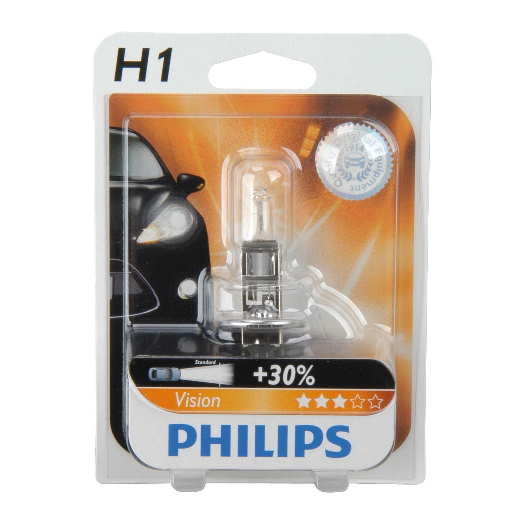 Philips Vision Halogenlampe H1 12 Volt / 55 Watt - Autobeleuchtung Bild 1