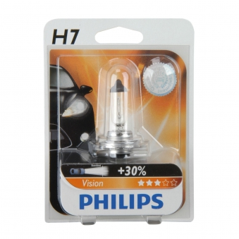 Philips Vision Halogenlampe H7 12 Volt / 55 Watt - Autobeleuchtung Bild 1