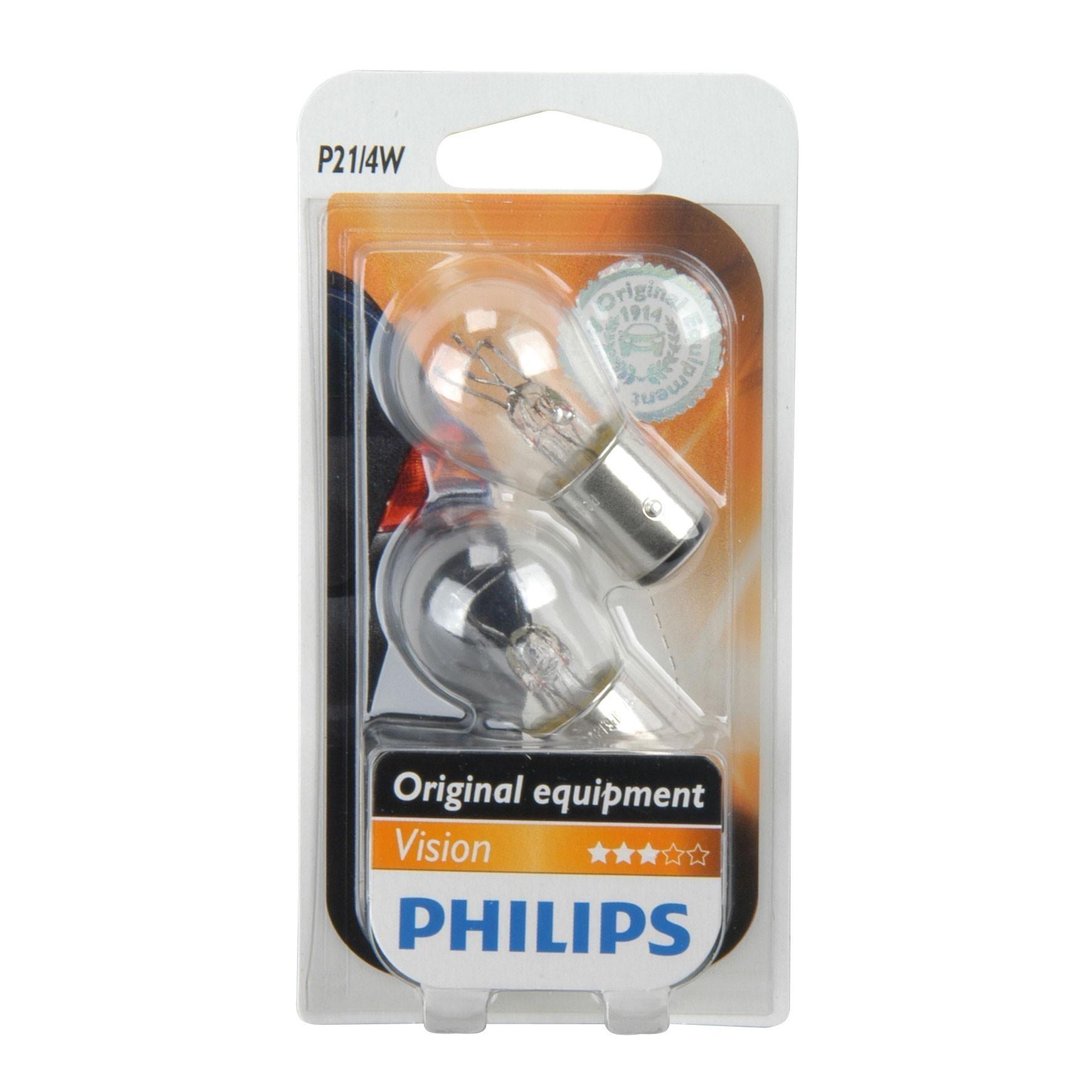 Philips Vision Kugellampe P21/4W 12Volt 2er Pack - Autobeleuchtung Bild 1