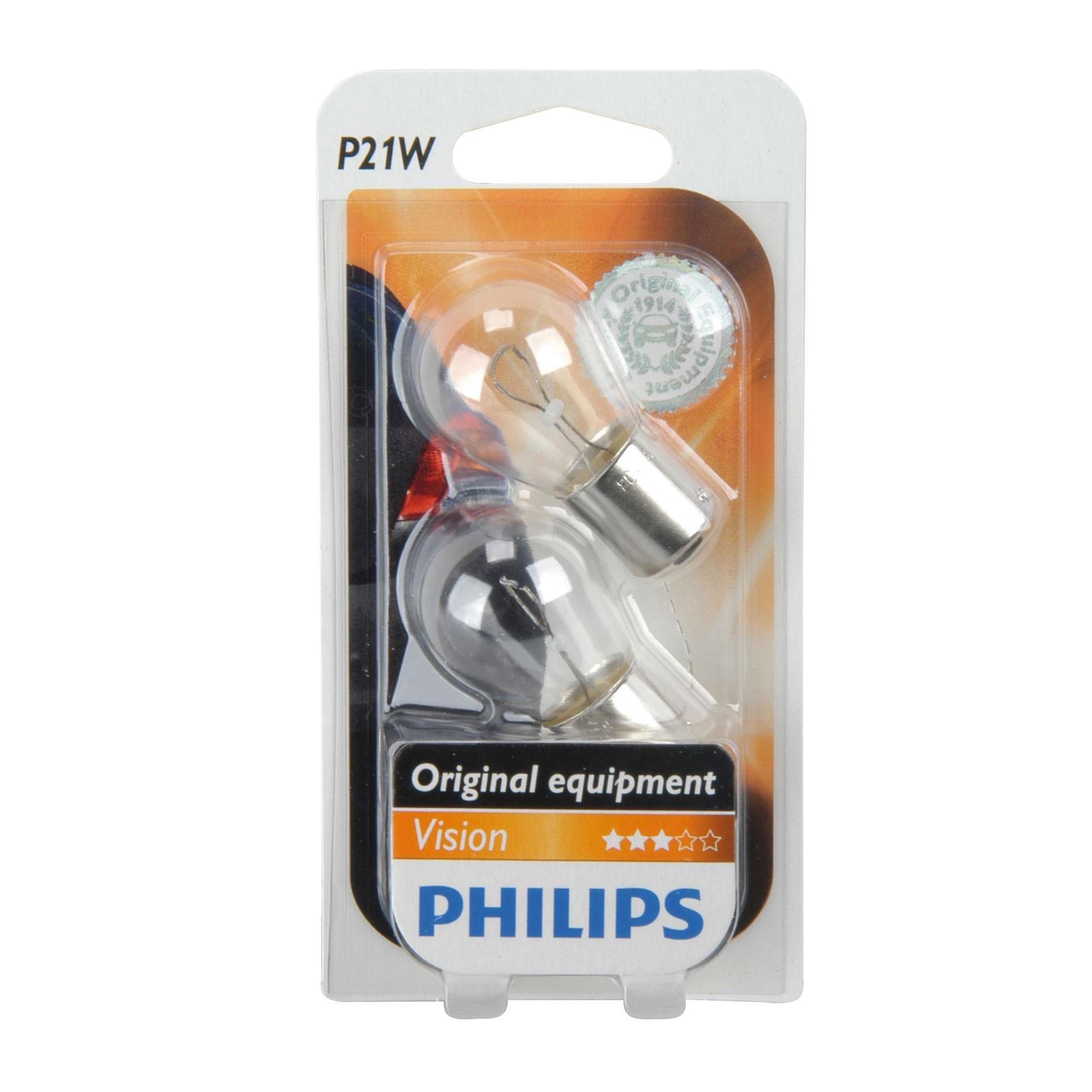 Philips Vision Kugellampe P21W 12Volt / 21Watt 2er Pack - Autobeleuch. Bild 1