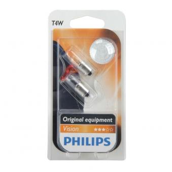 Philips Vision Standlichtlampe T4W 12Volt / 4Watt 2erP.  / Autobeleuch Bild 1