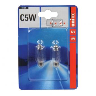 Soffittenlampe Unitec C5W 2 Stück Bild 1