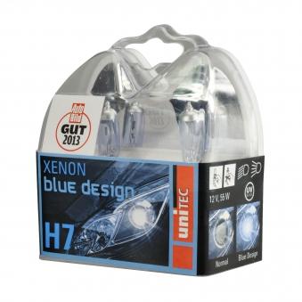 Unitec Halogenlampen Xenon Blue Design H7 12Volt  55Watt 2 Stück Bild 1