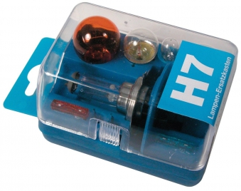 Unitec Lampenersatzkasten H7 blau / Komplett-Lampenset 7-teilig Bild 1