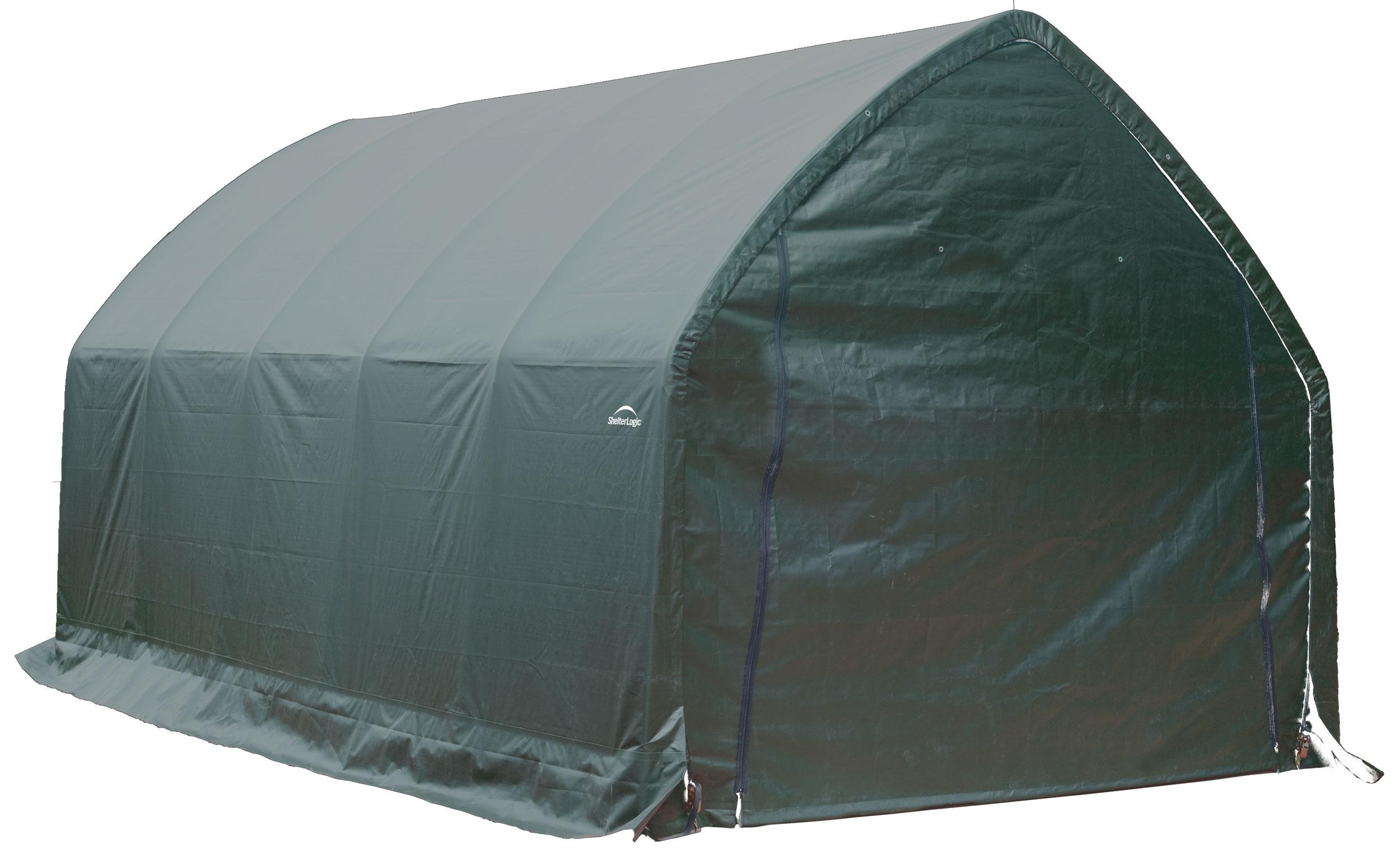 roundtop shelterlogic box garage in watch youtube a