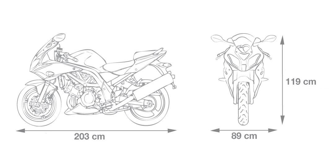 Motorrad Garage 203x89x119cm Größe M Bild 2