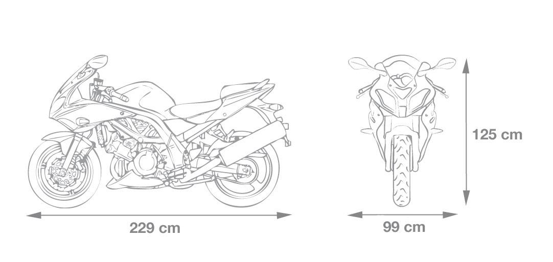 Motorrad Garage 229x99x125cm Größe L Bild 2