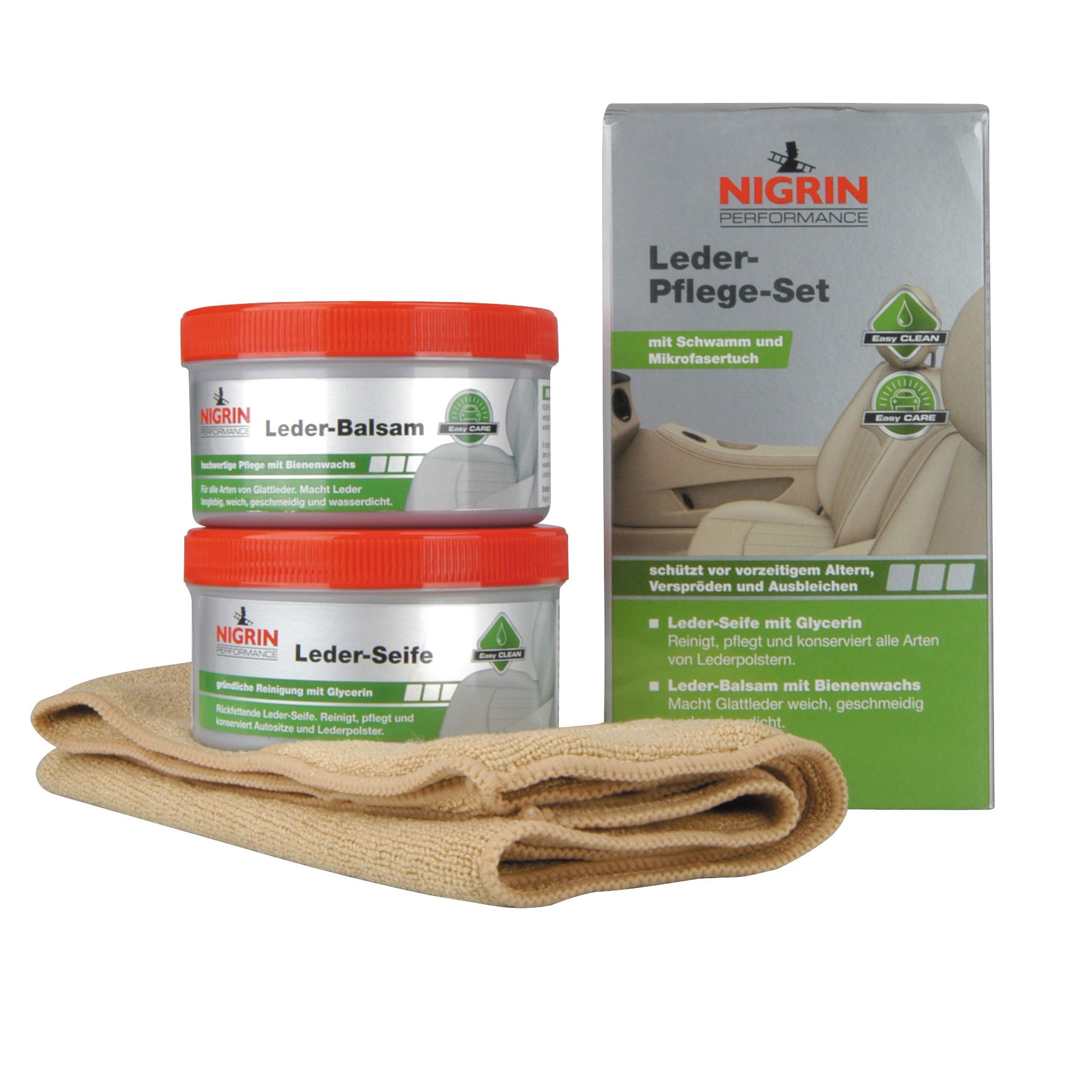 Nigrin Performance Leder-Pflege-Set Seife+Balsam 2x250ml Bild 1