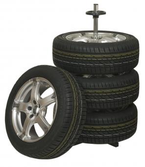 Felgenbaum / Reifenständer für 4 PKW Reifen mit Hülle Bild 1