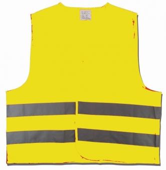 Warnweste / Pannenweste Unitec gelb Universalgröße Bild 1