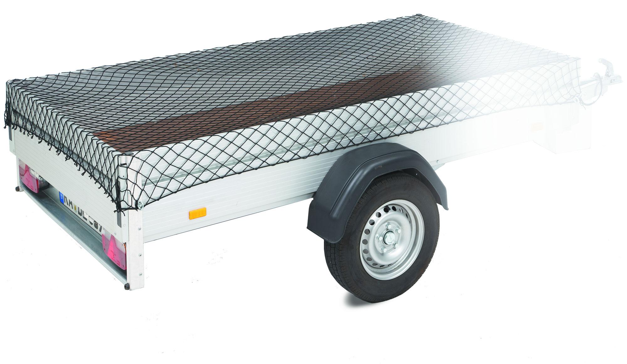 Anhänger-und Gepäcknetz cartrend mit Kordel 3x1,6m Bild 1