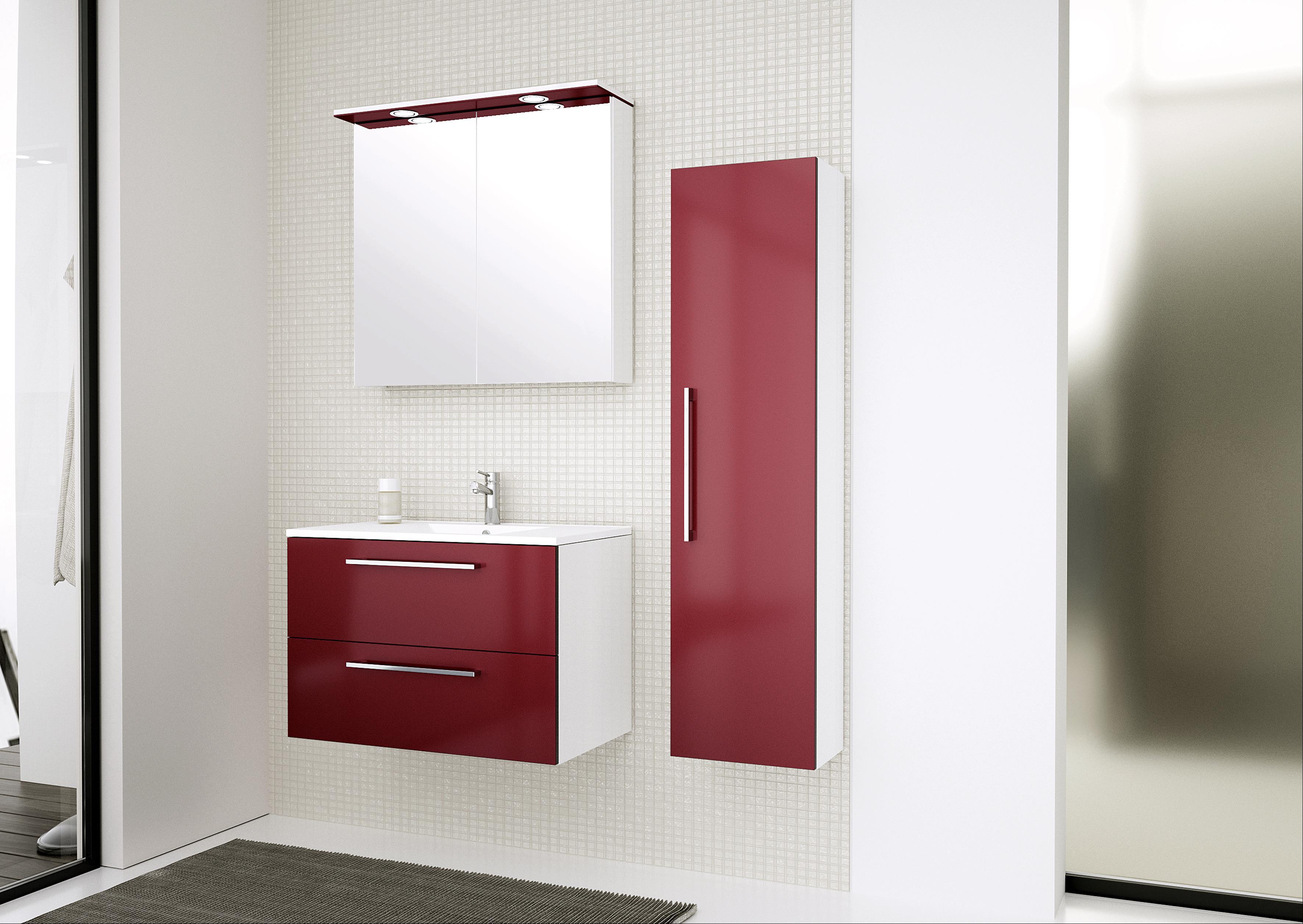 Bad Hochschrank Allegro 35 Rot glänzend Bild 4