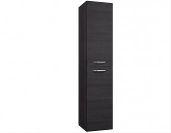 Bad Hochschrank Luna 35 mit 2 Türen, Wäschekorb, Eiche schwarz Bild 1