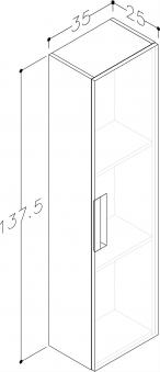 Bad Hochschrank Milano 35 Weiß matt Bild 3