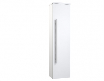 Bad Hochschrank Serena 35 Weiß glänzend Bild 1
