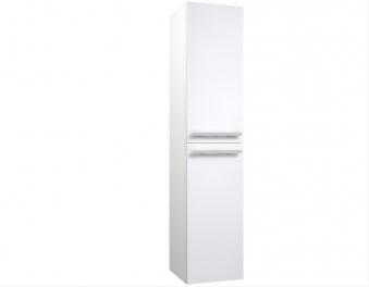 Bad Hochschrank Serena 35 mit 2 Türen, Wäschekorb, Weiß glänzend Bild 1