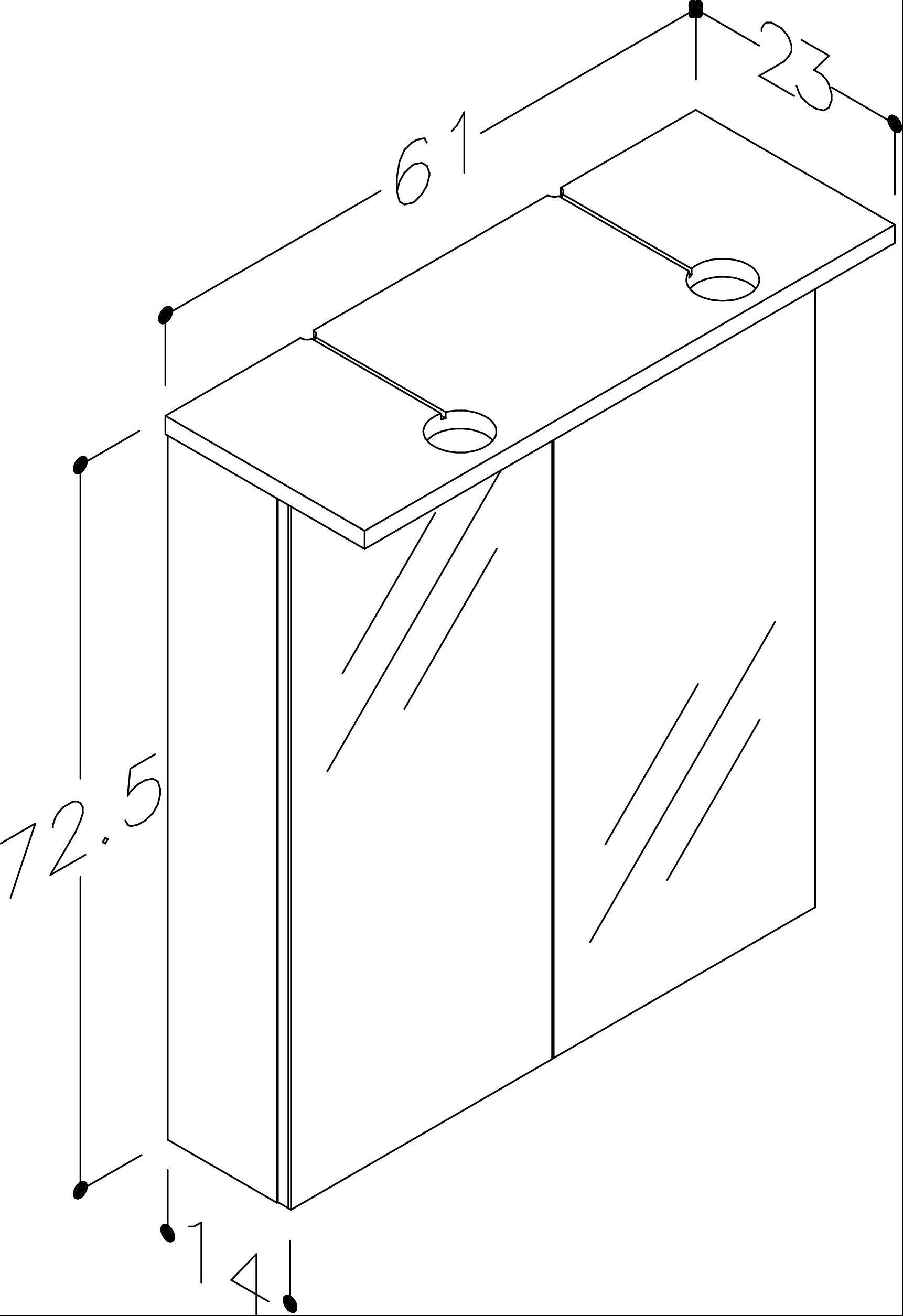 Bad LED Spiegelschrank Allegro 61 Beige glänzend Bild 3