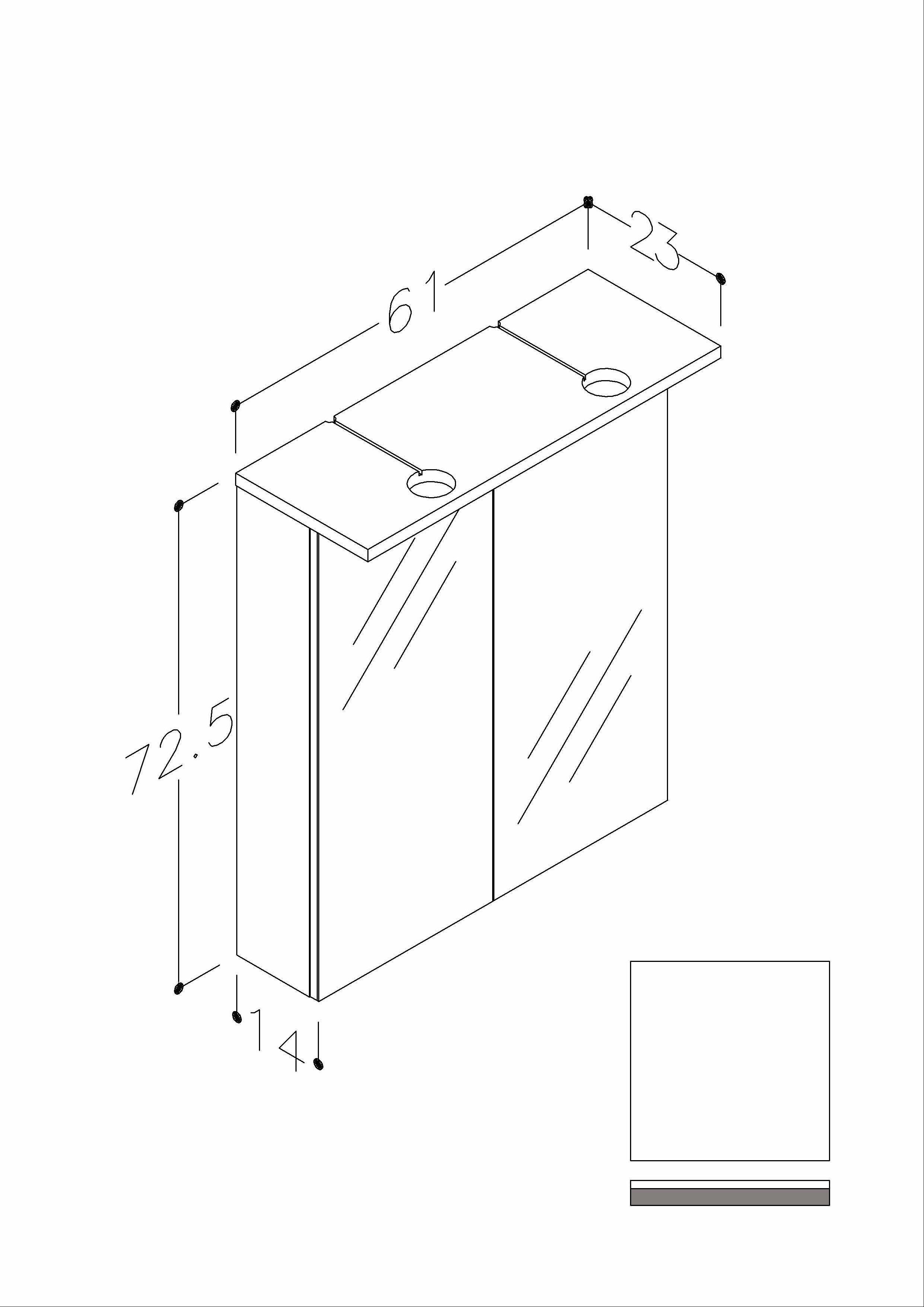 Bad LED Spiegelschrank Allegro 61 Weiß glänzend Bild 2