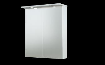 Bad LED Spiegelschrank Allegro 61 Weiß glänzend Bild 1
