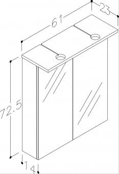 Bad LED Spiegelschrank Allegro 61 Weiß glänzend Bild 3