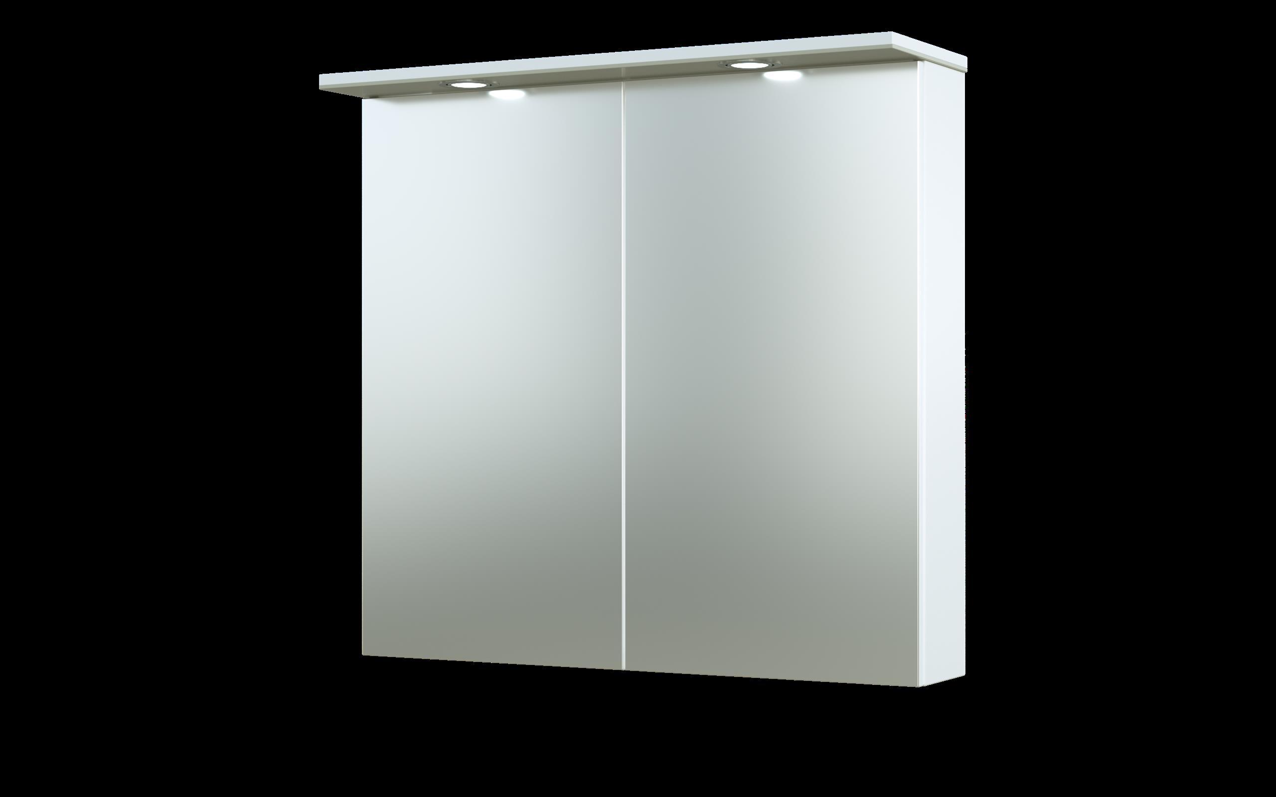 Bad LED Spiegelschrank Allegro 76 Beige glänzend Bild 1