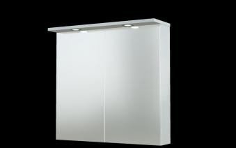 Bad LED Spiegelschrank Allegro 76 Weiß glänzend Bild 1