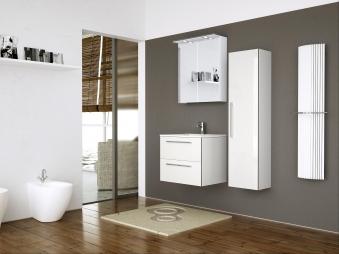 Bad LED Spiegelschrank Allegro 76 Weiß glänzend Bild 4