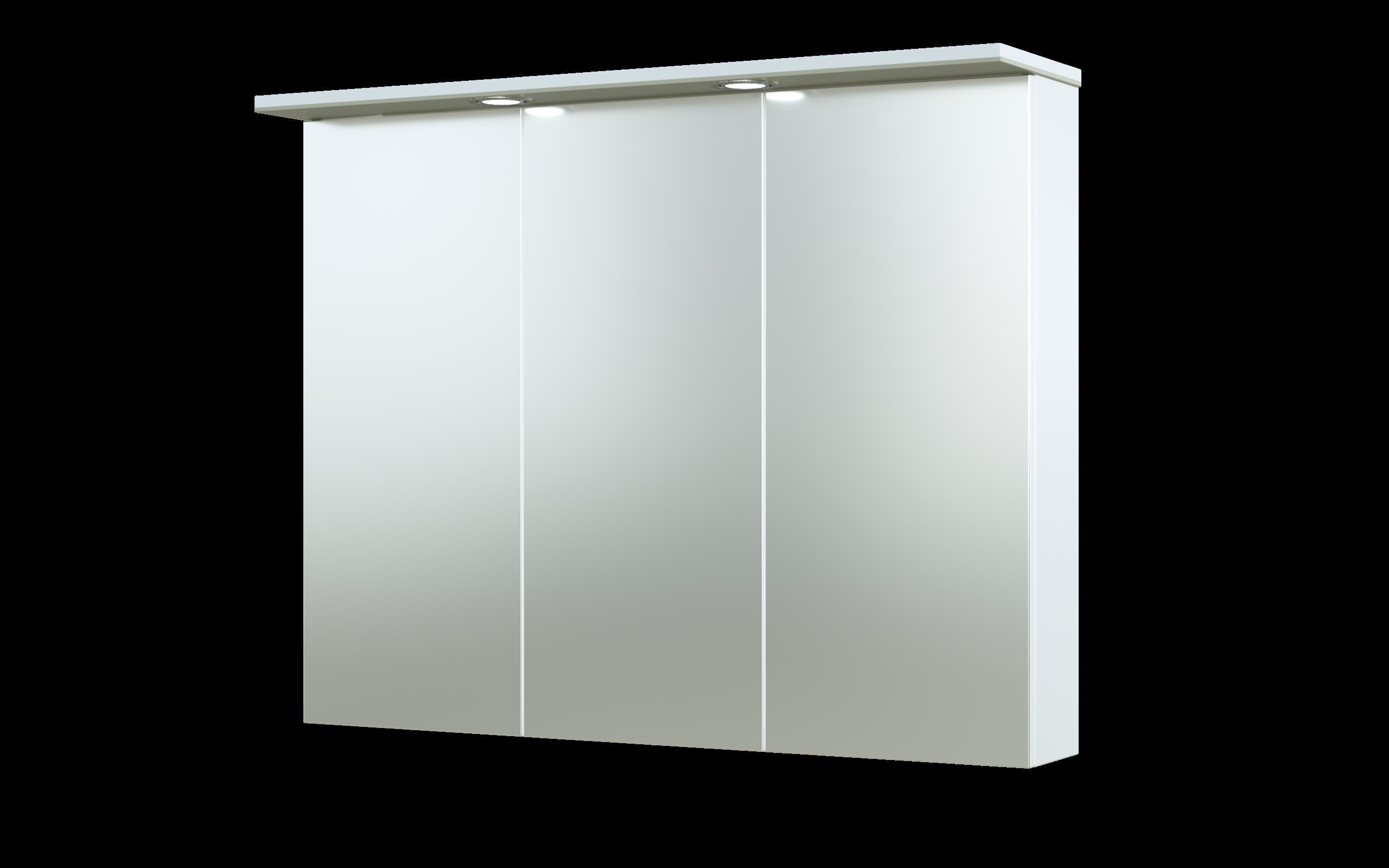 Bad LED Spiegelschrank Allegro 91 Beige glänzend Bild 1