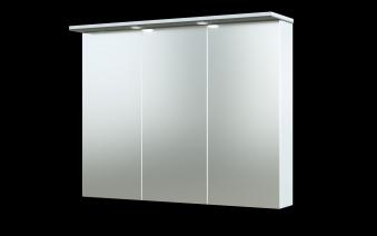 Bad LED Spiegelschrank Allegro 91 Grau glänzend Bild 1