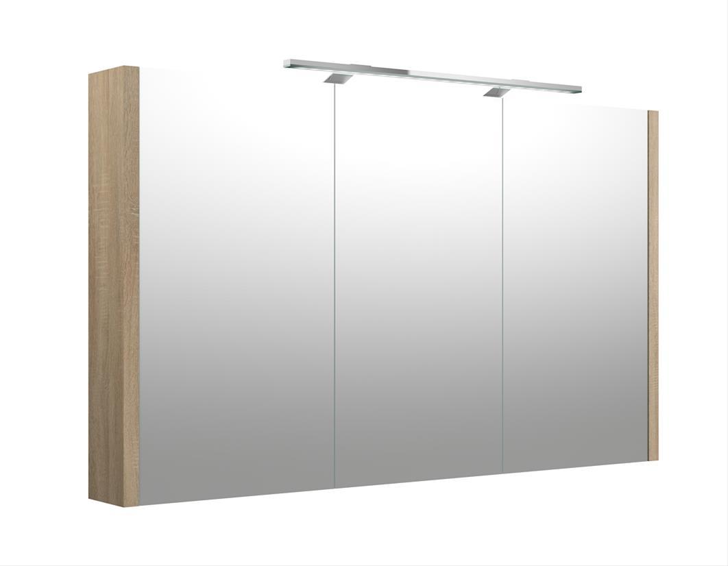 Bad LED Spiegelschrank Luna 110 Eiche bardolino Bild 1