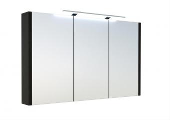 Bad LED Spiegelschrank Luna 110 Eiche schwarz Bild 1
