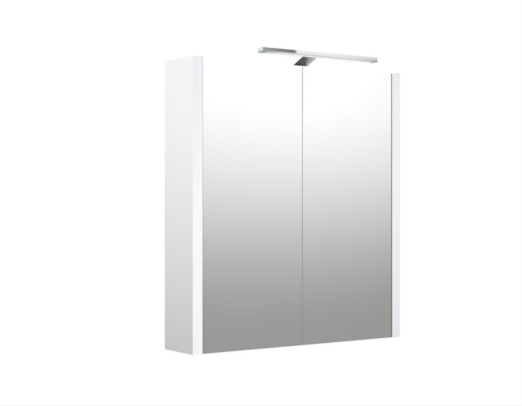 Bad LED Spiegelschrank Luna 60 Weiß glänzend Bild 1