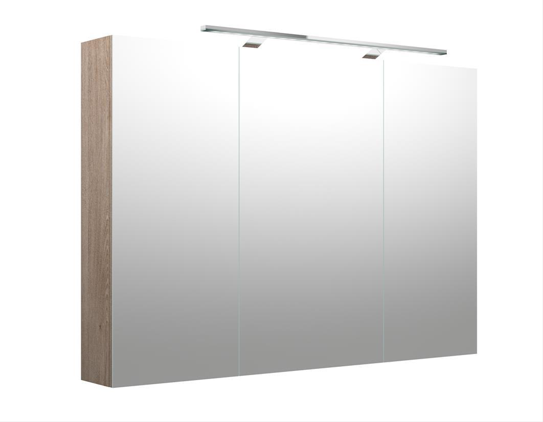 Bad LED Spiegelschrank Milano 100 Nelson Eiche Bild 1