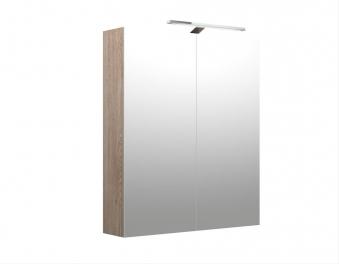 Bad LED Spiegelschrank Milano 60 Nelson Eiche Bild 1
